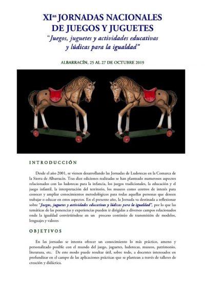 XI Jornadas Nacionales de Juegos y Juguetes. Albarracín @ Albarracín   Aragón   España