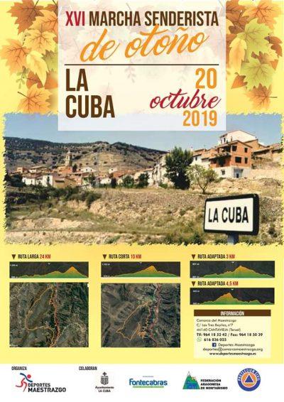 XVI Marcha senderista de otoño Maestrazgo @ Cuevas de Cañart   Aragón   España