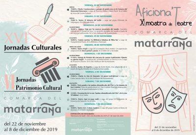 XVI Jornadas Culturales y X Mostra de Teatre Comarca del Matarraña @ Aragón | España