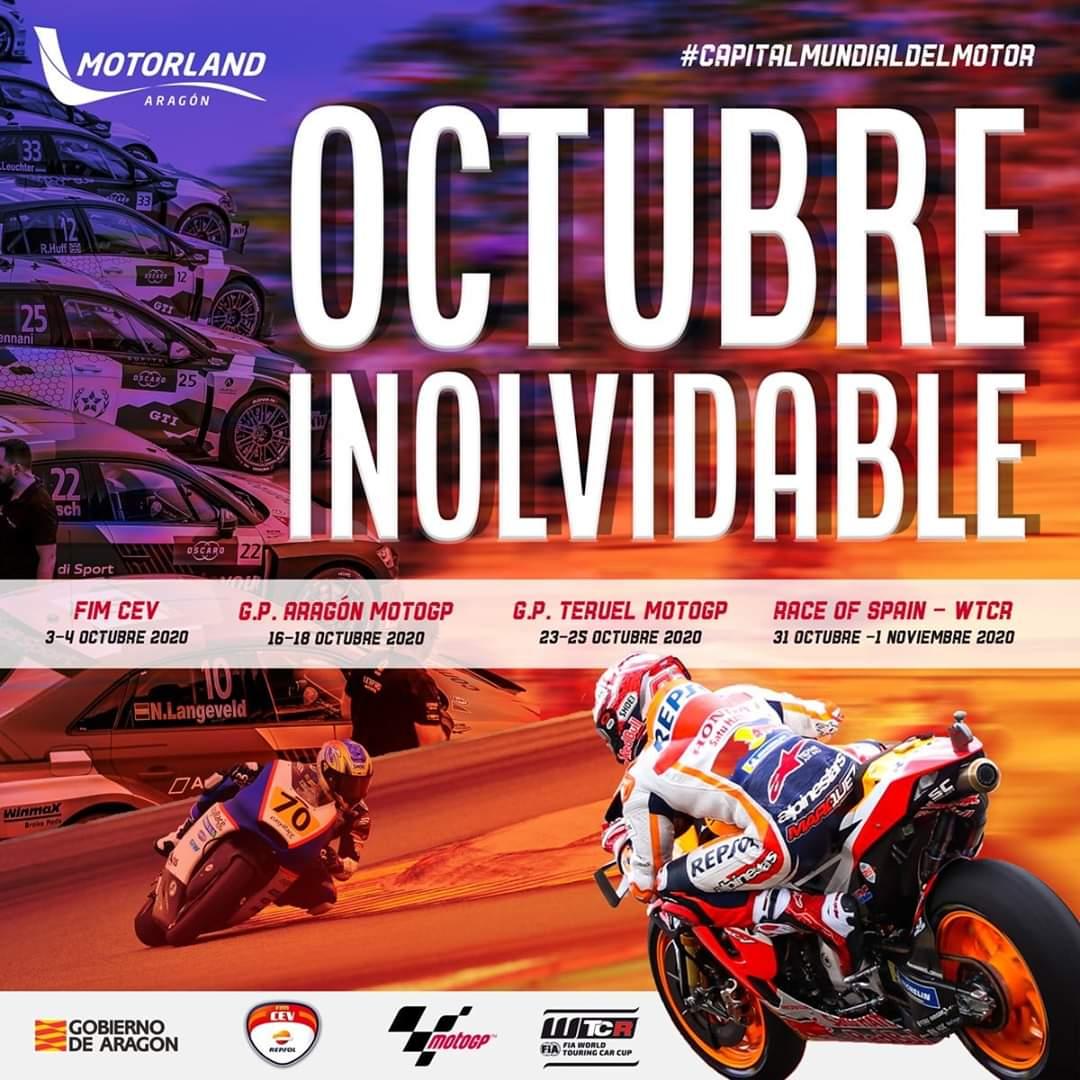 motorland octubre 2020 eventos