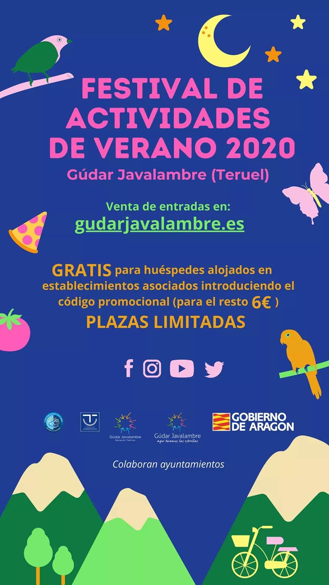 festival actividades verano gudar javalambre 2020