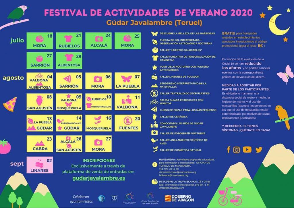 programa actividades verano gudar javalambre 2020