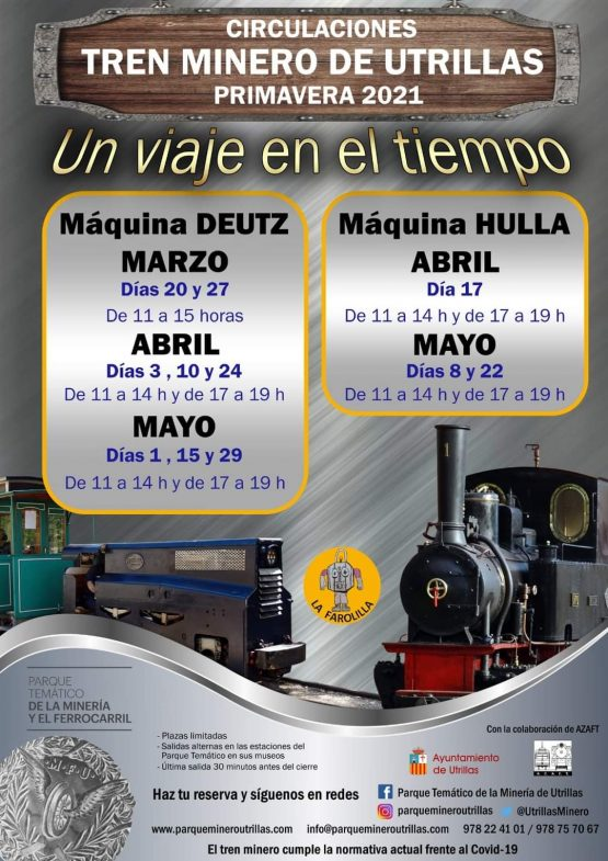 tren minero de utrillas calendario primavera 2021